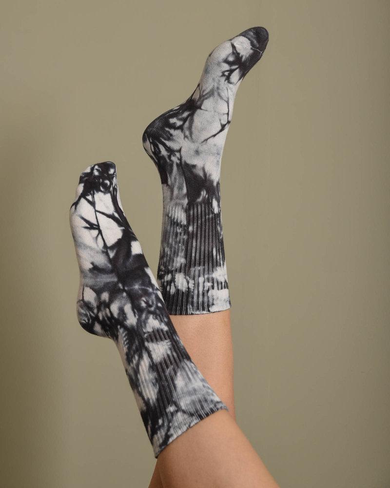 Vegas Tie Dye Sock Black