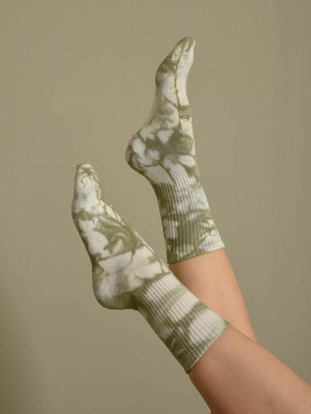 Vegas Tie Dye Sock Olive