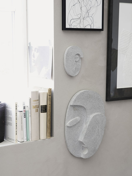 House Doctor Wall Art Face Grey