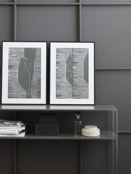 House Doctor Art Print Fields Grey + Frame