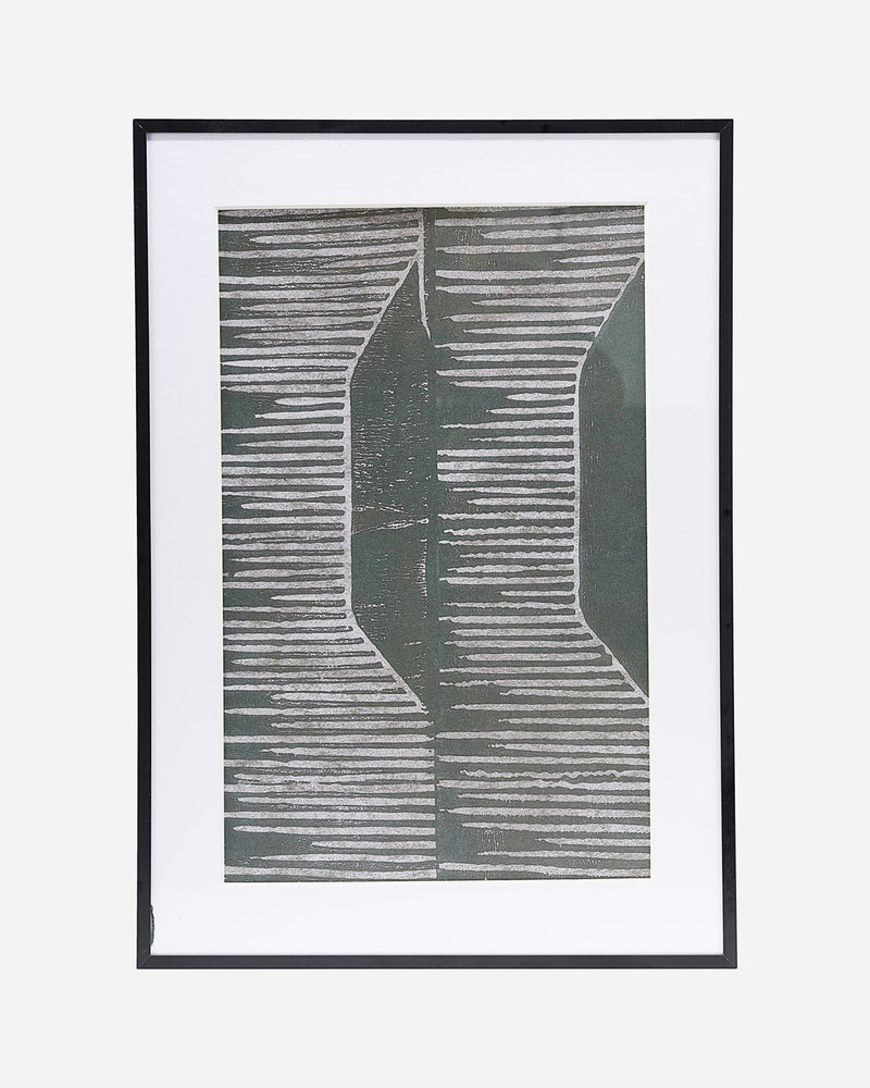 Art Print Fields Grey + Frame