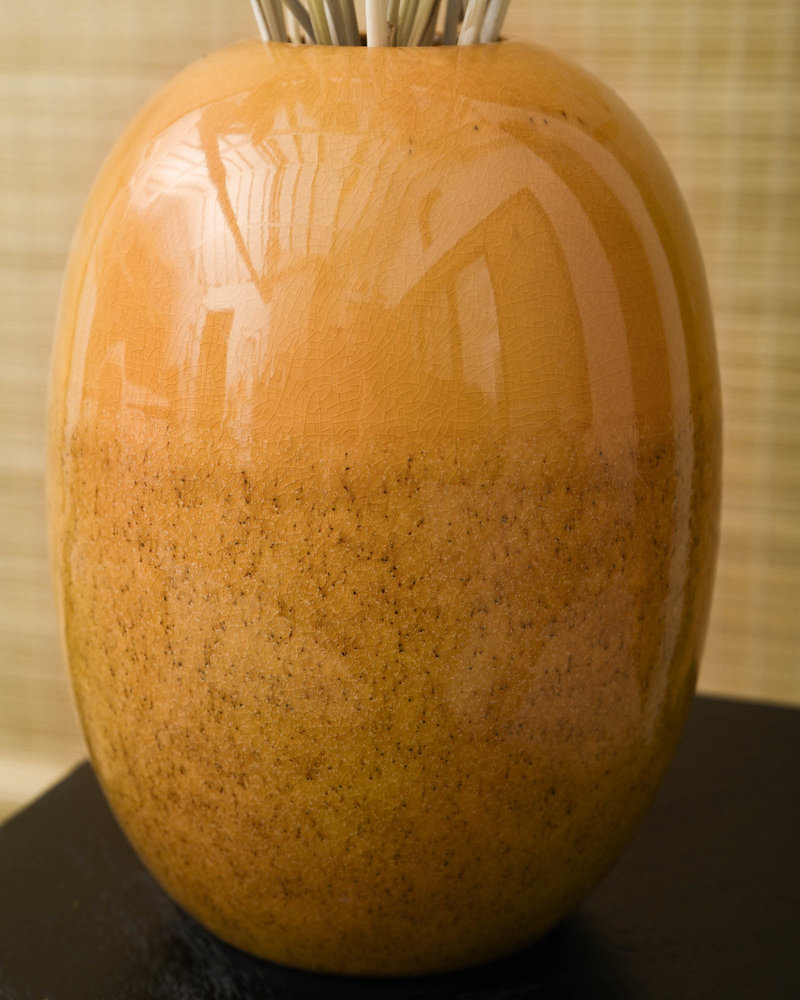 Vase Biacco Ceramic Ocher Yellow