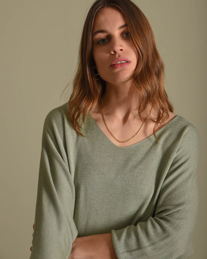 Amber Knitted Top Light Green
