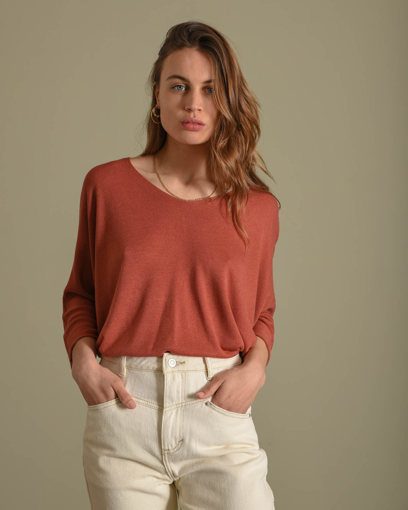 Amber Knitted Top Blush