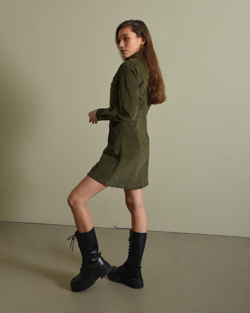 NMLisa Corduroy Button Dress Kalamata