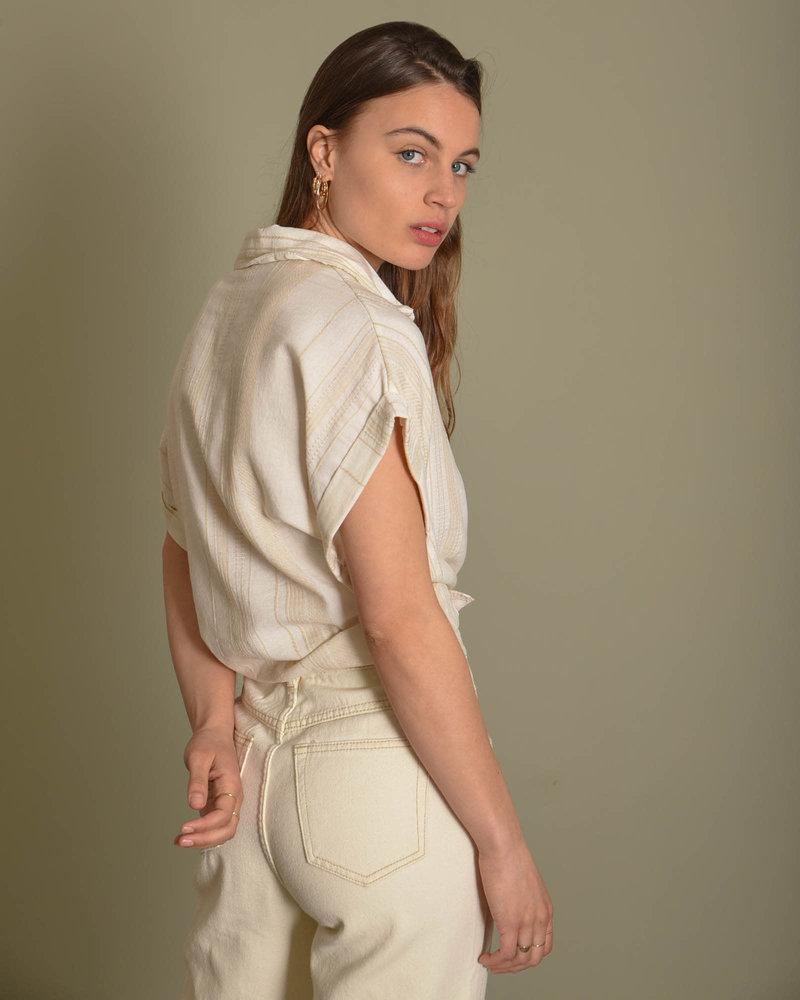 Yente Blouse Beige Striped