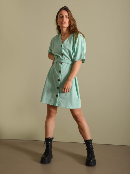 Things I Like Things I Love TILTIL Lola Button Dress Mint