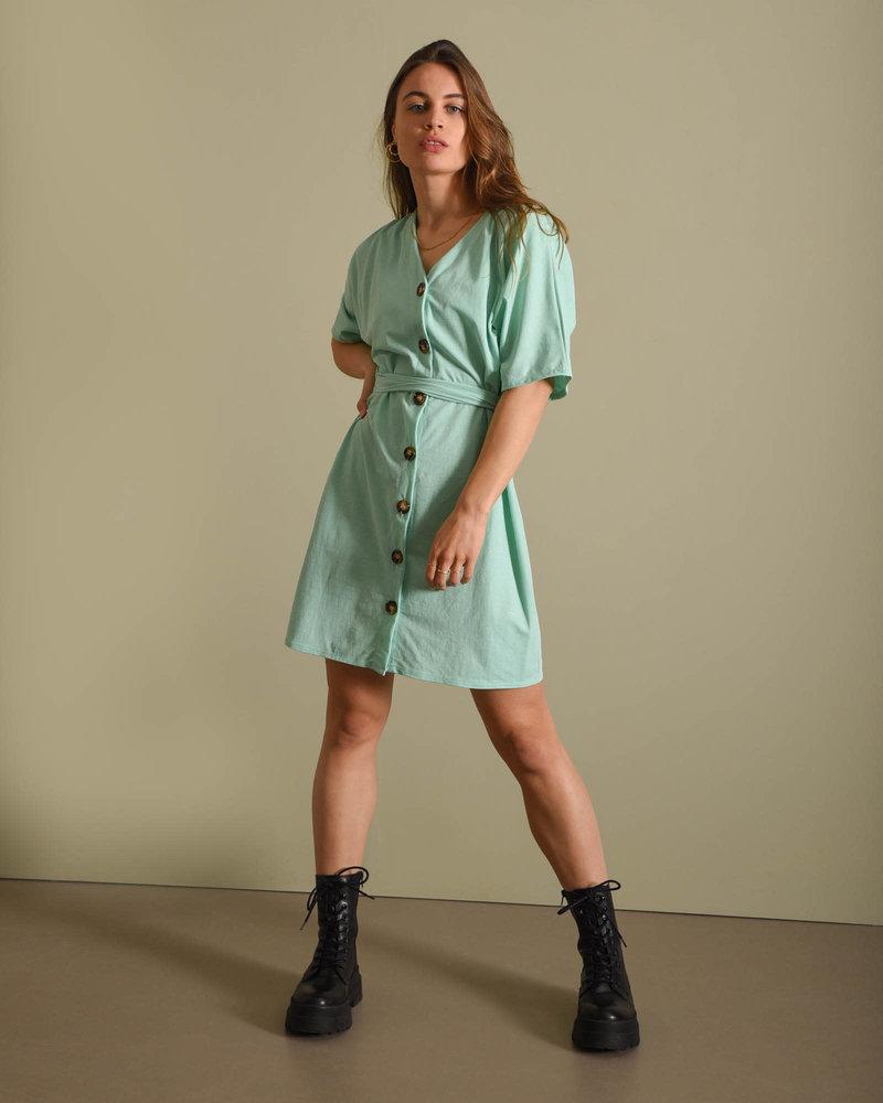 TILTIL Lola Button Dress Mint