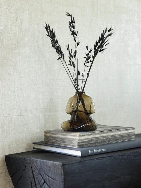 Elze Vase Brown Glass
