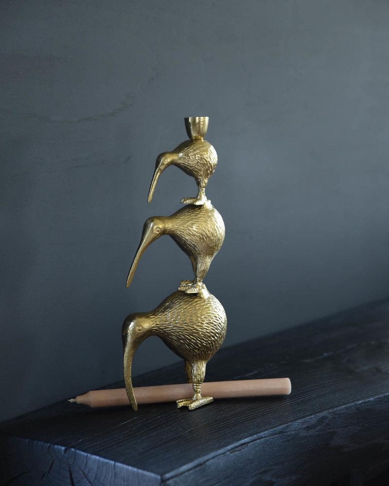 Candle Holder Kiwi Bird Family