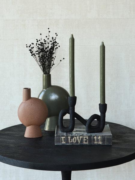 Madam Stoltz Vase Stoneware Round