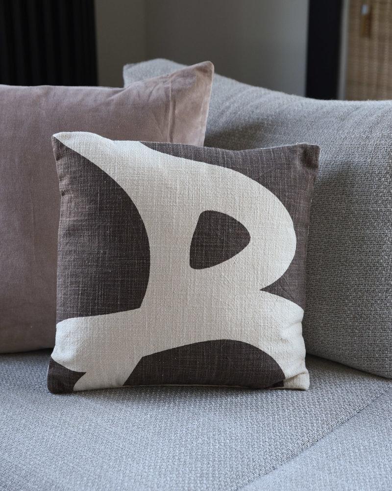 Cushion Ebrar Brown Cotton
