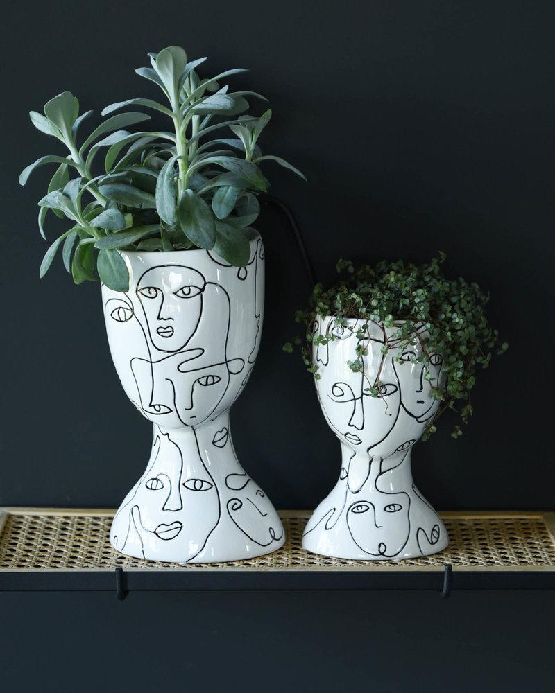 Planter Faces White