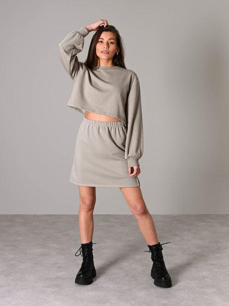 NAKD Mini Sweat Skirt Grey