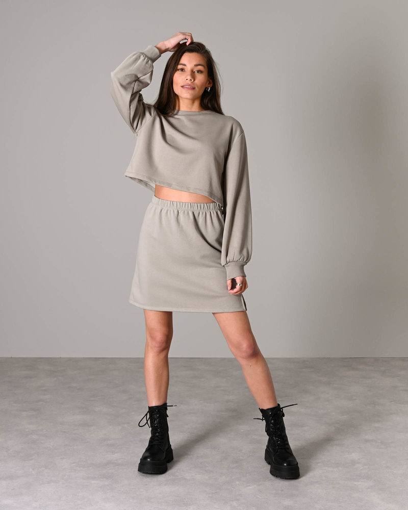 Mini Sweat Skirt Grey