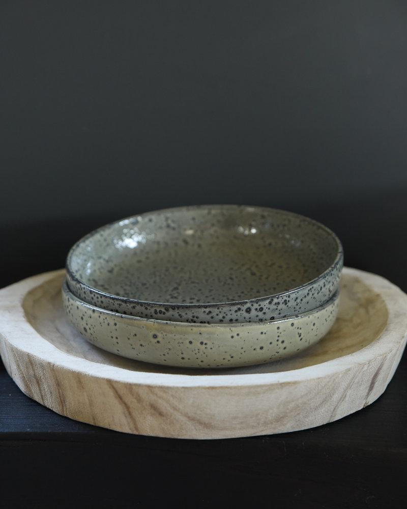 Deep Serving Plate Gradient Green