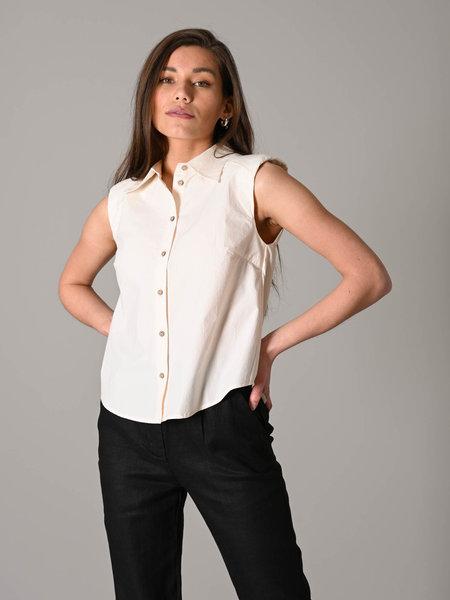 YAS Agana SL Shirt Eggnog