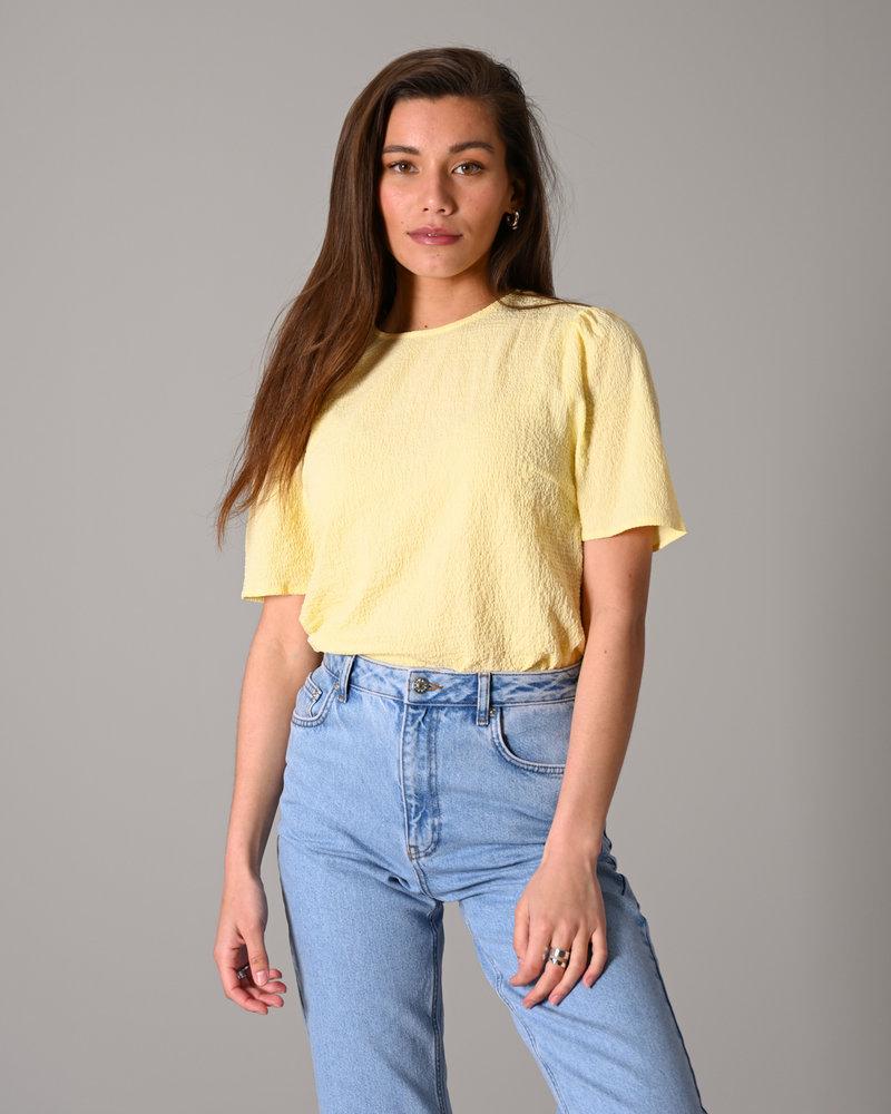 Cornelia Puff Top Light Yellow