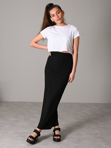 Noisy May Mox Long Slit Skirt Black