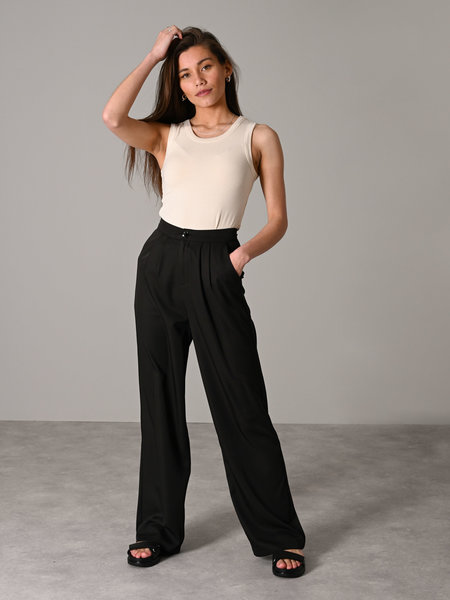 Rut & Circle Serena Wide Pant Black