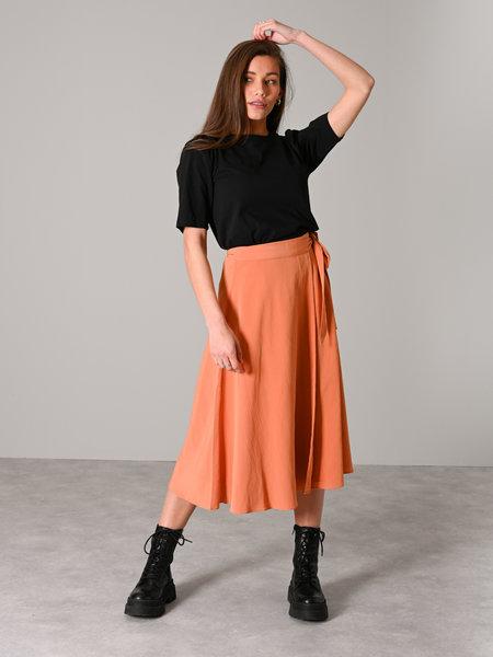 YAS Sunna Midi Wrap Skirt Sunburn