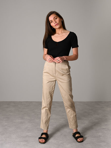 MSCH Langley Ankle Pants White Pepper