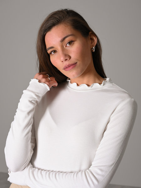 Things I Like Things I Love TILTIL Fenna Frill Top White
