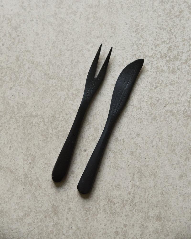 Bamboo Knife Black (SET OF 4)