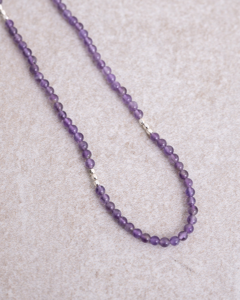 Gemstone Necklace Soothing Amethyst Silver