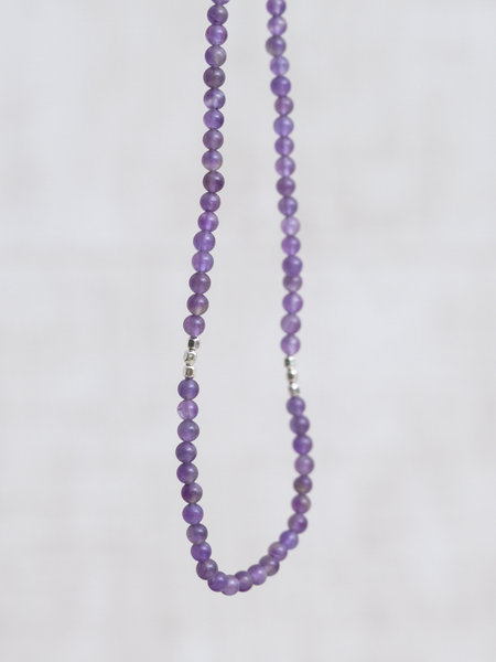 The Two Collectors Gemstone Necklace Soothing Amethyst Silver
