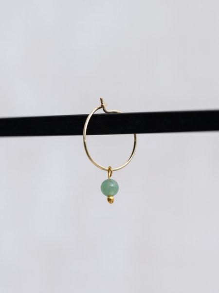 Ess Yello Mini Hoop Green Bead