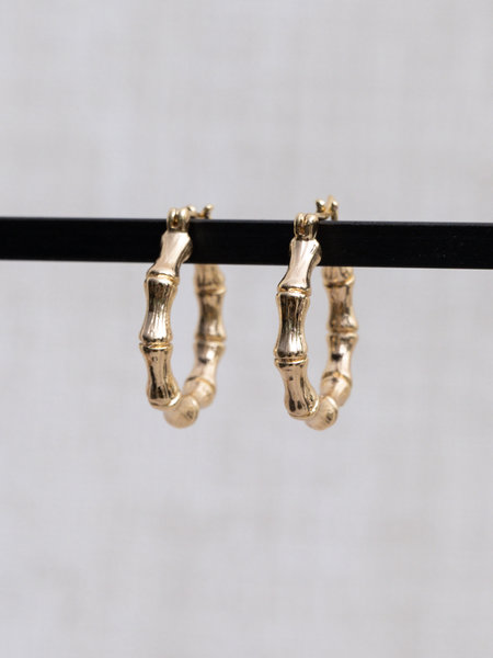 The Two Collectors Goldfilled Bamboo Hoop 25mm
