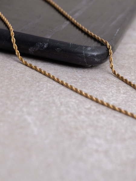Twisty Necklace Gold