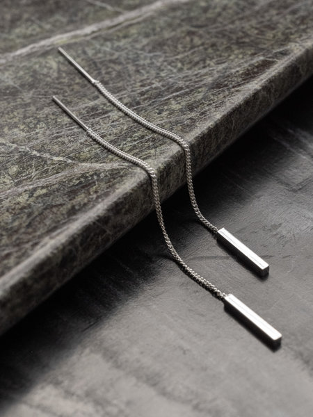 Things I Like Things I Love Square Earchain Silver