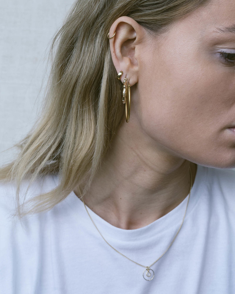 Goldfilled Bamboo Hoop 25mm