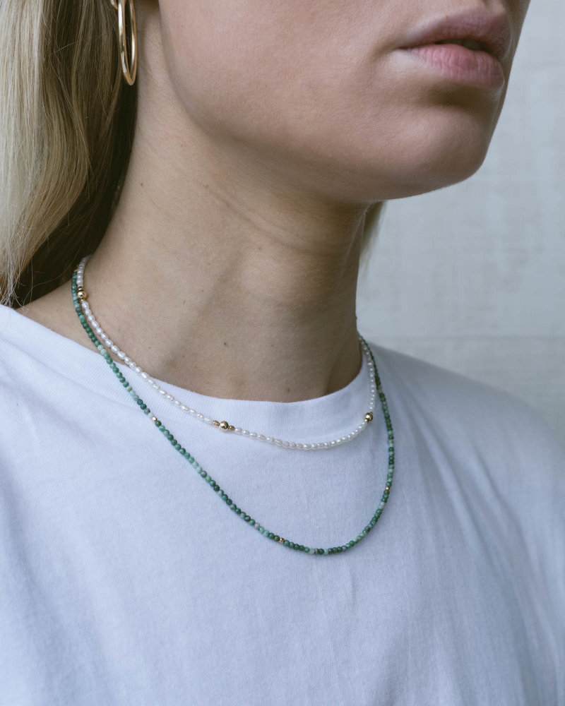 Peaceful Pearl Necklace Goldfilled