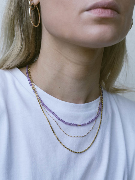 The Two Collectors Gemstone Necklace Soothing Amethyst Gold