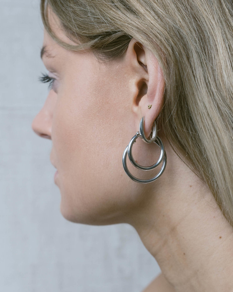 TTS Tory Oval Thick Hoop Silver 17mm