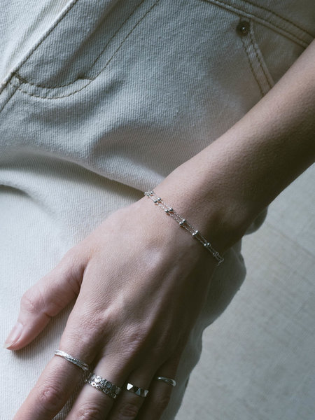 Things I Like Things I Love Double Dotted Silver Bracelet