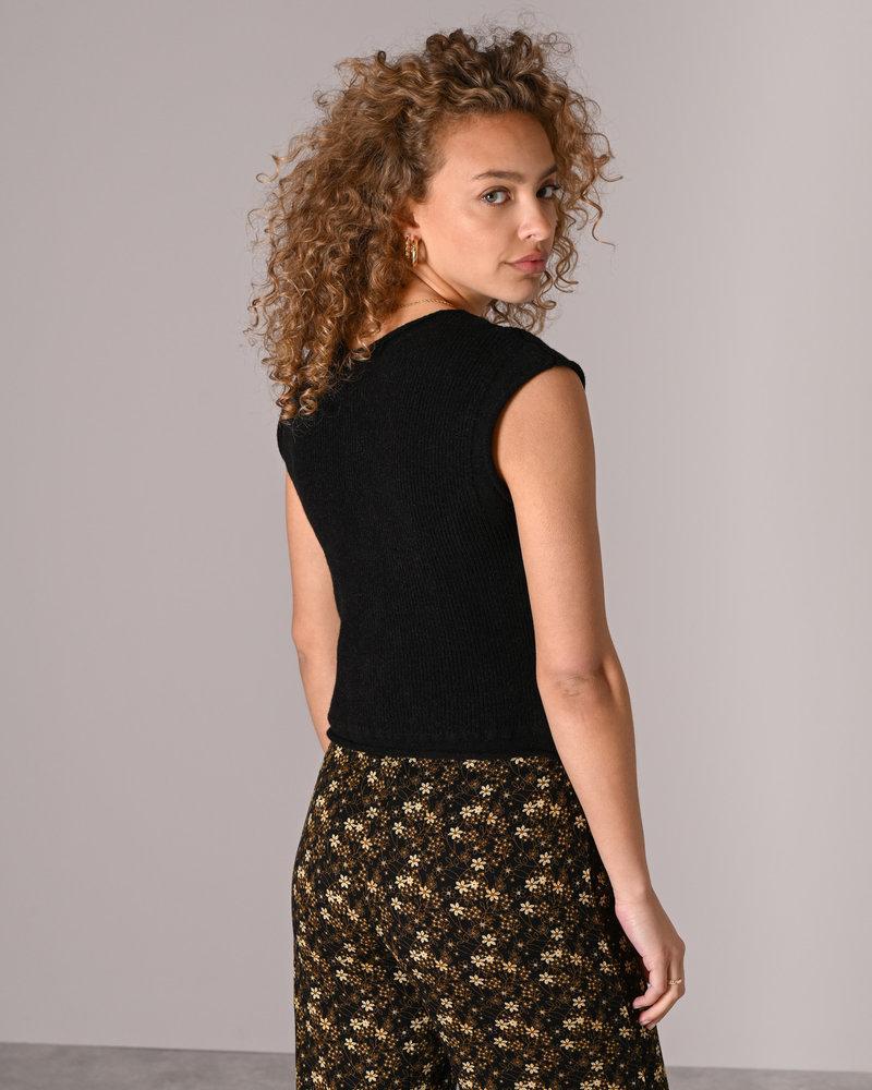 TILTIL Katy Knitted Top Black