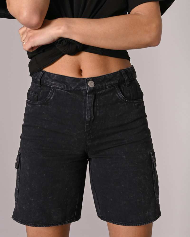 Lucky Longboarder Cargo Shorts Black