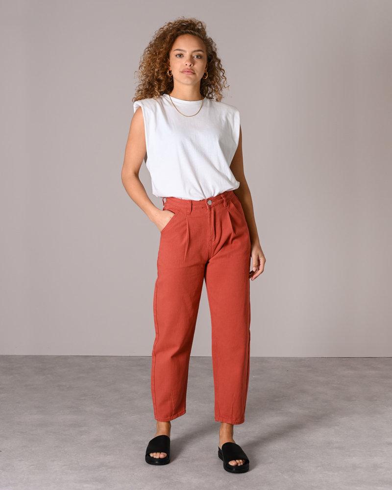 Pants Red Brown