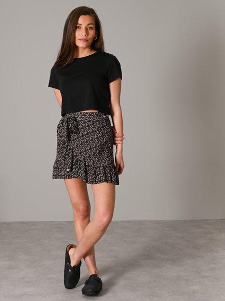Things I Like Things I Love TILTIL Lisa Wrap Skirt Black Flower