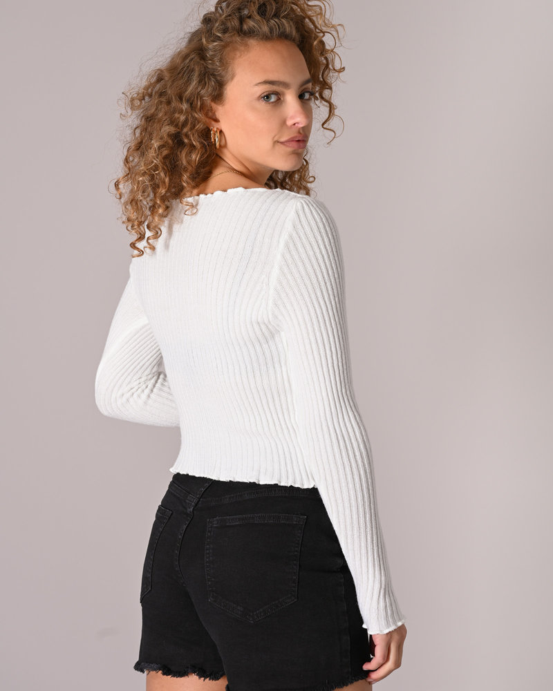 TILTIL Amy Frill Knit White