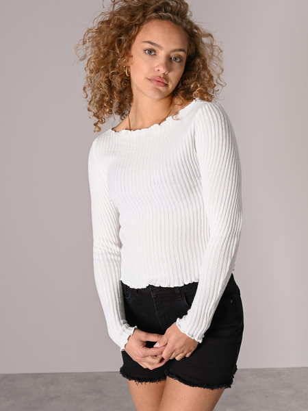 Things I Like Things I Love TILTIL Amy Frill Knit White