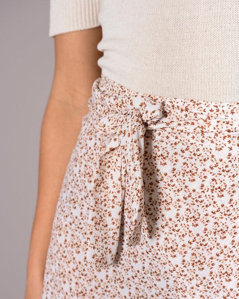 TILTIL Lisa Wrap Skirt Beige Flower