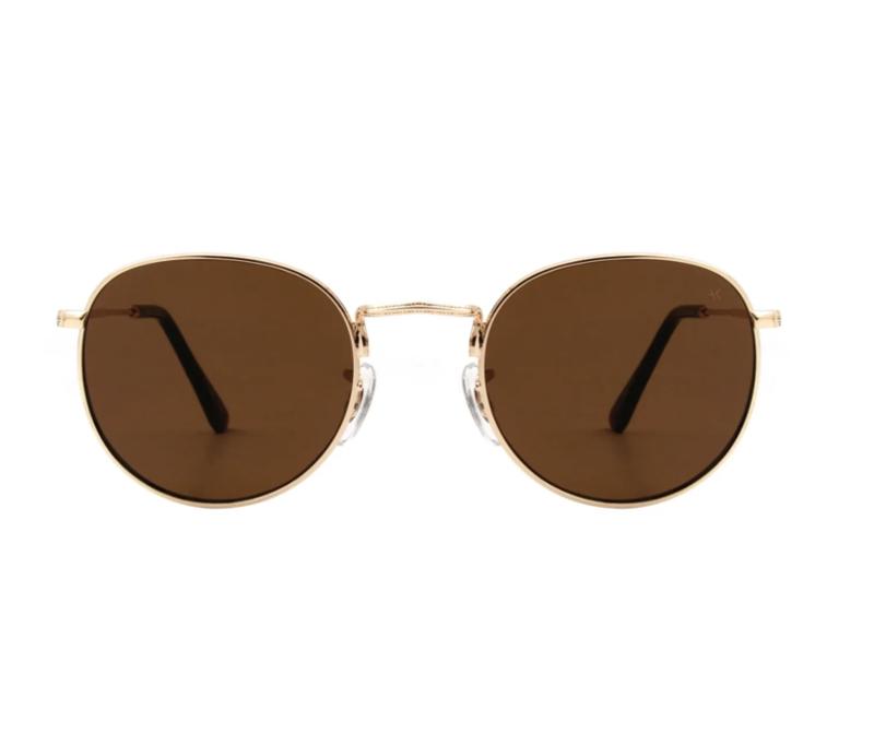 Hello Sunglasses Gold Brown