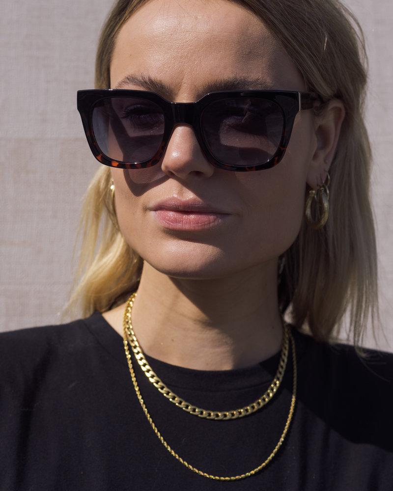 Nancy Sunglasses Black Demi Tortoise