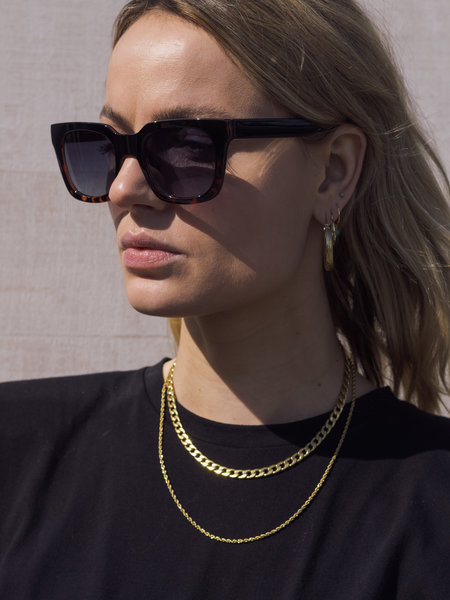 Nancy Sunglasses Black Demi Tortoise