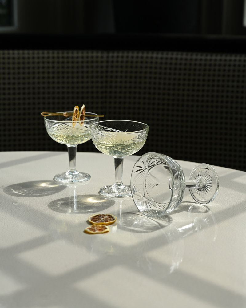Hobstar Champagne Coupe